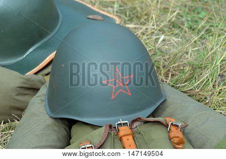 Soviet historical military items.At September 10,2016 in Kiev, Ukraine