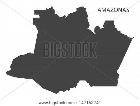 Amazonas map grey brazil vector high res
