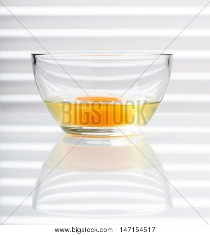 Yellow Yolk In Glass Bowl
