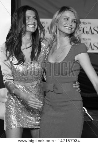 Lake Bell and Cameron Diaz at the World premiere of 'What Happens in Vegas' held at the Mann Village Theater in Westwood, USA on May 1, 2008.