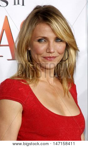Cameron Diaz at the World premiere of 'What Happens in Vegas' held at the Mann Village Theater in Westwood, USA on May 1, 2008.