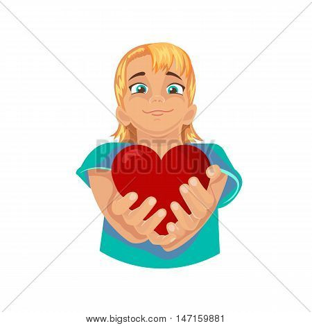heart in the hands of a child as a concert a healthy heart