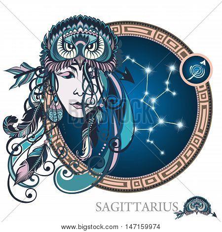 Sagittarius . Zodiac sign for your design