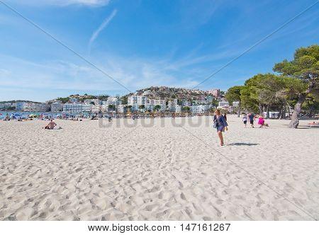 Santa Ponsa Beach With Soft White Sand