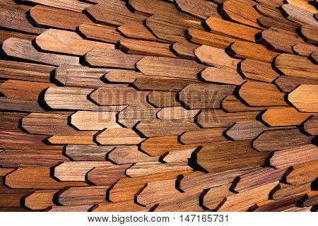 Decorative wood slats design ideal as background