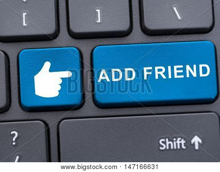 Close-up View Of Add Friend Button