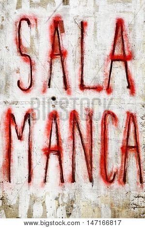 Salamanca - Urban graffiti on a wall, Spain