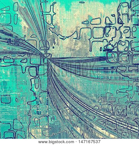 Geometric grunge texture, scratched surface or vintage background. With different color patterns: yellow (beige); gray; blue; cyan; white