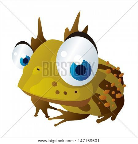 vector cartoon cute animals. Funny Horned Toad
