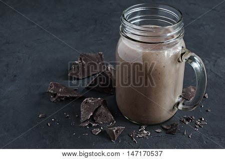 Chocolate Smoothie Or Chocolate Milkshake