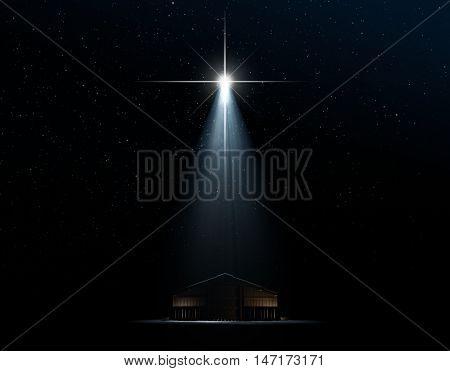Abstract Nativity Scene