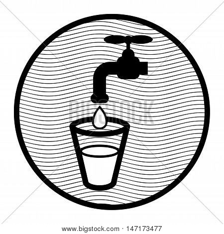 Abstract Water sign or symbol, vector illustration