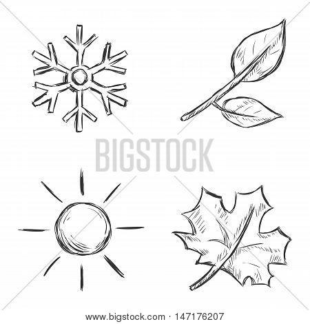 Vector Set Of Sketch Season Icons