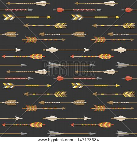 Arrow seamless pattern vector design for wrapping paper