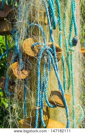 fishing nets old -fashioned fishing abstract macro