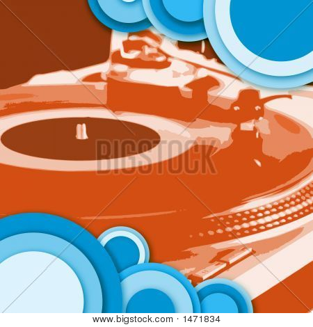 Circle Turntable  Red Blue