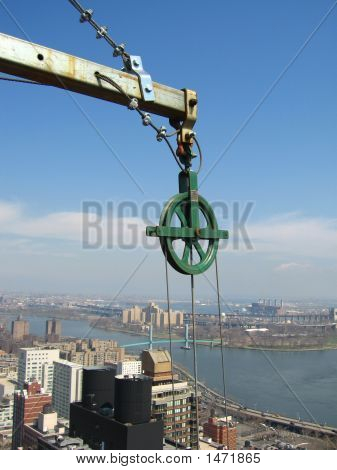 Pulley Overlooking City