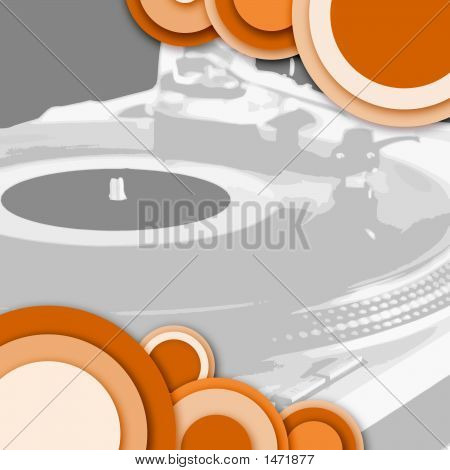 Circle Turntable Grey Orange