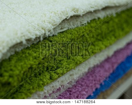 colorful carpet samples