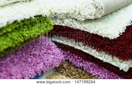 colorful carpet samples