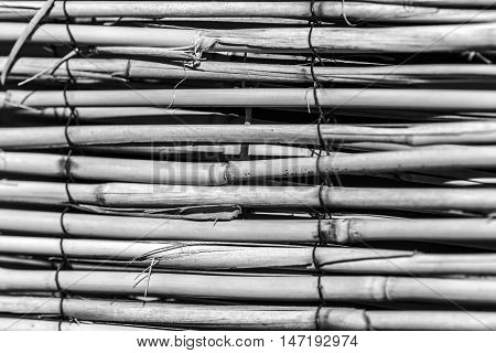 straw mat outdoor macro closeup details color and black and white photos