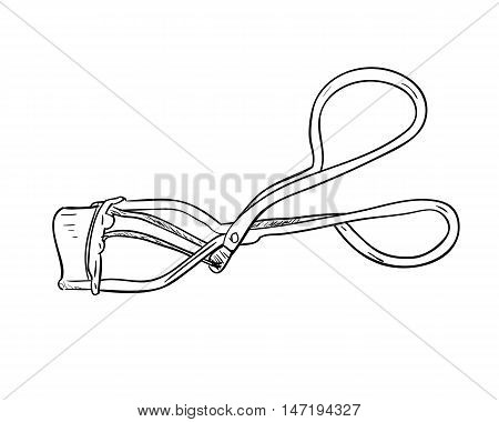 Sketch Of Tweezers For Eyelashes