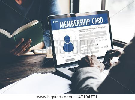 Authorization Membership Card Identification Data Information License Concept