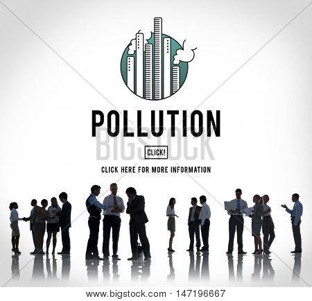 Pollution Emission Fog Hazard Mist Pollute Smog Concept