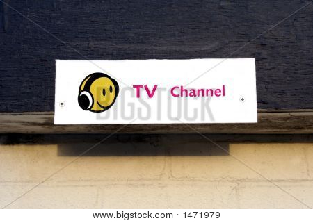 Sign For Tv Channel Station