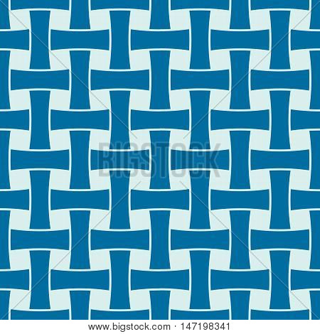 Vector abstract seamless composition best for use in textile and fabric symmetric ornate background created with grid netting