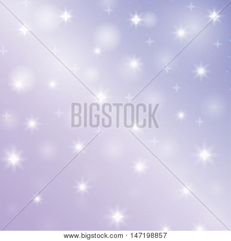 Abstract symbol star. Decorative pattern with snow. Bright background bokeh. Christmas art. New Year design. Festive creative wallpaper. Simple graphic backdrop. Vector.