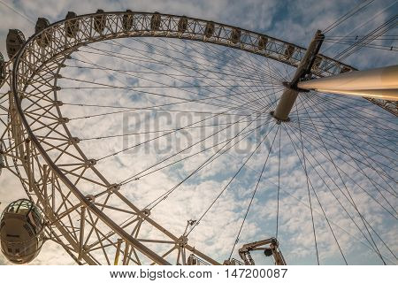 Nice view of The London Eye in UK