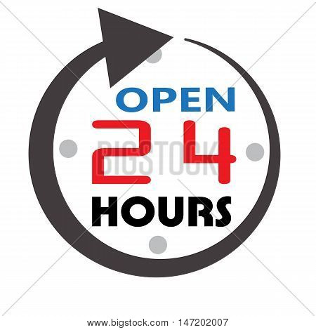 24 hour service open 24 hours icon 24 hours open customer service