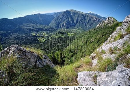 Tara Canyon view from Curevac viewpoint In Durmitor National Park, Montenegro