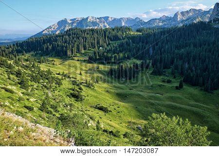 Durmitor Mountains rocky ridges, Montenegro