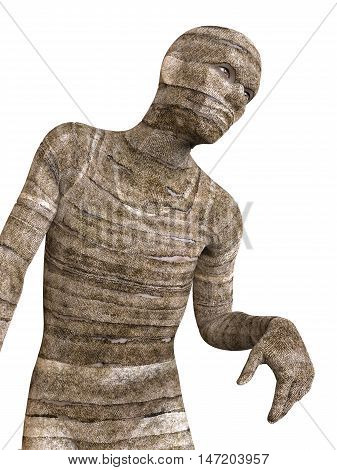 3D Illustration Of A Mummy Isolated on White