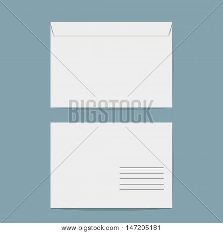 Vector envelope. White closed envelope isolated on a background.