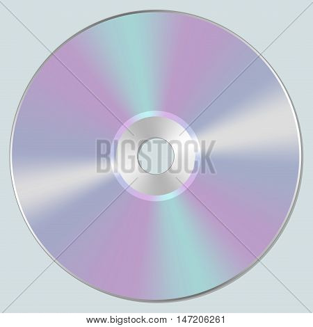 Vector isolated blank compact disc CD or DVD.
