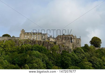 Stirling Castle atop Castle Hill in Scotland.