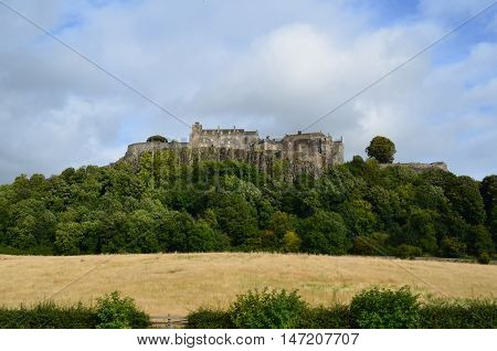 Gorgeous views of Stirling castle upon Castle Hill in Scotland.
