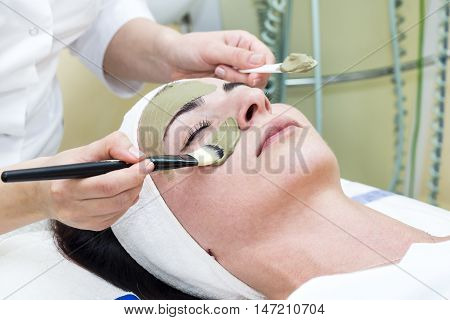 process of massage and facials in beauty salon