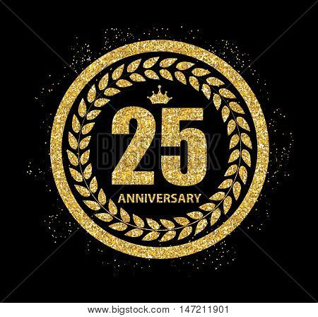 Template Logo 25 Years Anniversary Vector Illustration EPS10