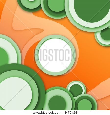 Abstract Circular Windows Red And Green