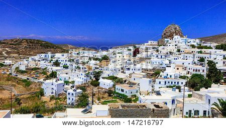 Authentic Greece- view of beautiful Chora, Amorgos island