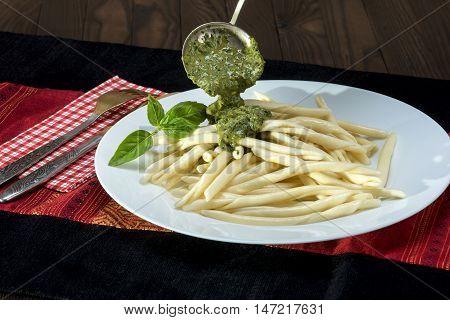 Trofie Al Pesto - Italian Pasta With Pesto Sauce
