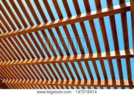 In Oman The Wooden  Roof