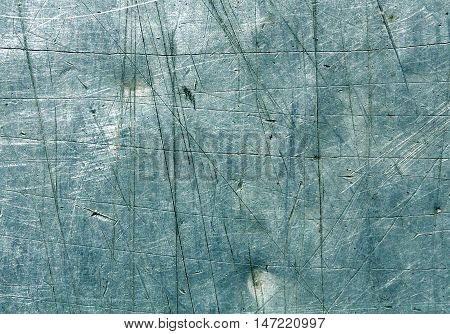Cyan Scratched Metal Surface.