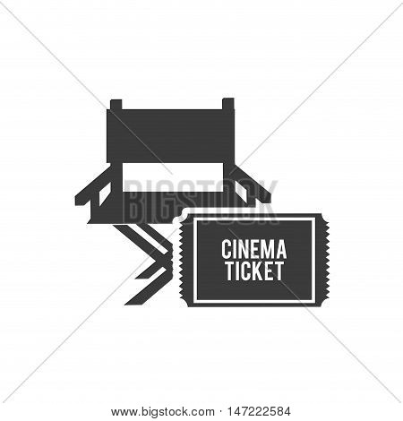 cinematographic director chair with cinema icon vector illustration design