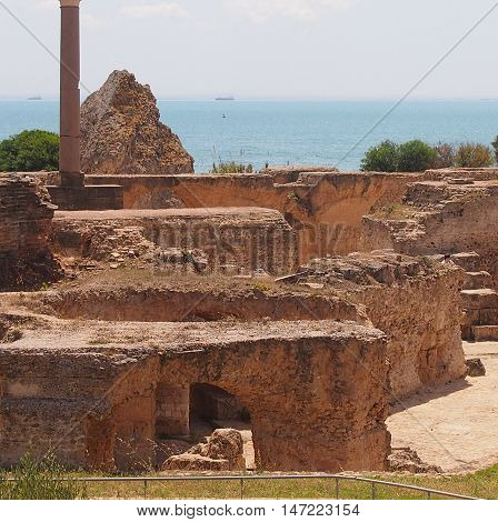 Ruins Anthony Pius's term in Carthage in the territory of Tunisia