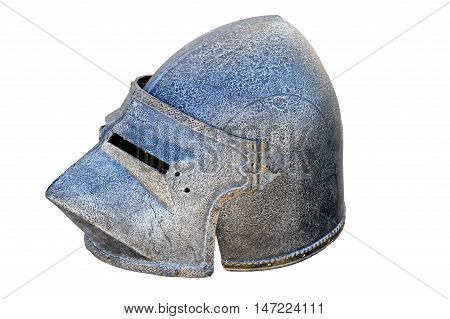 warrier's armour helmet on a white background